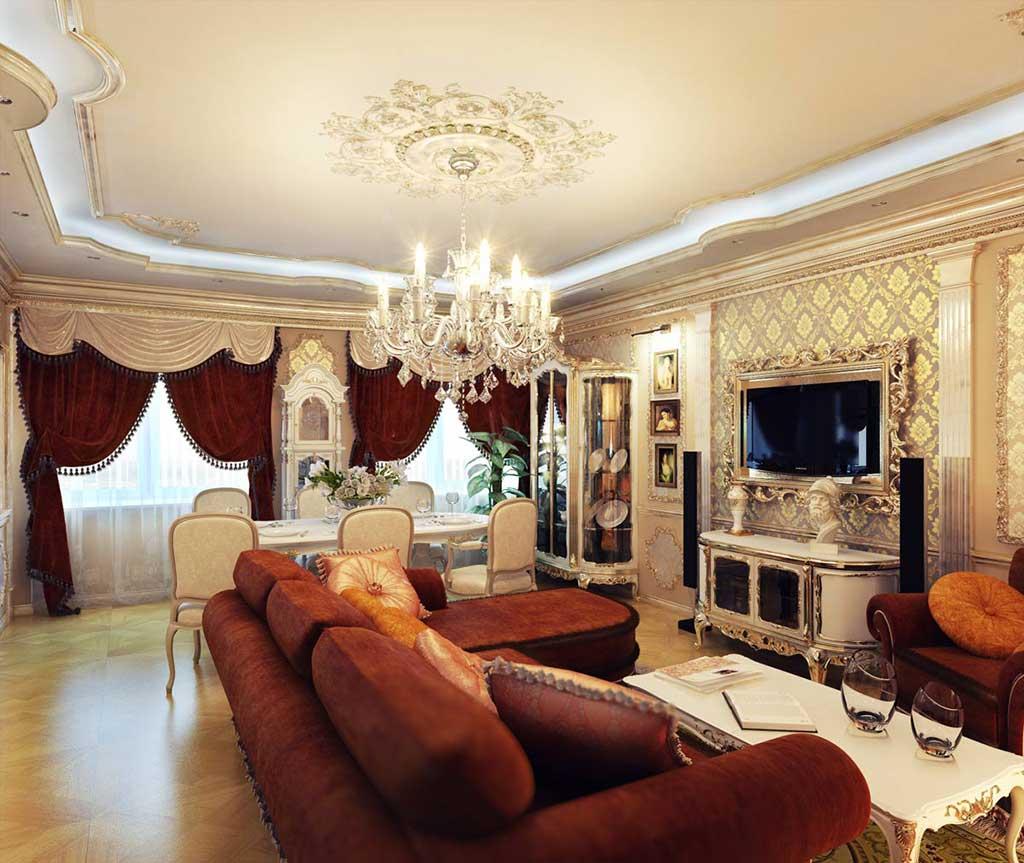 Освещение квартиры люстрой