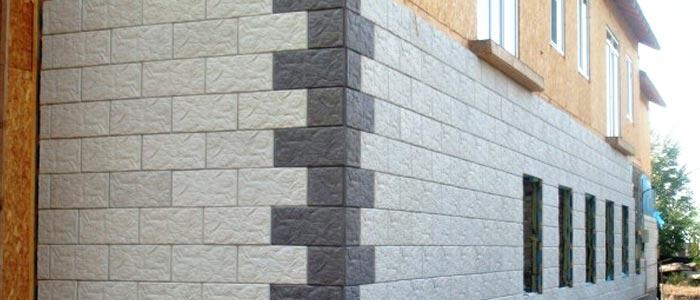 отделка стен дома плиткой