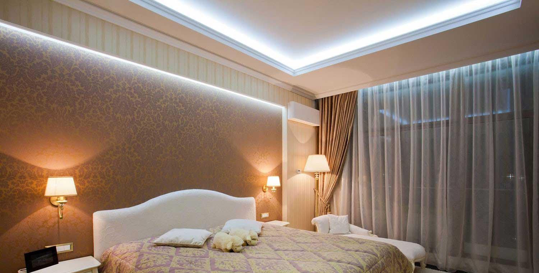 освещение потолка светодиодами
