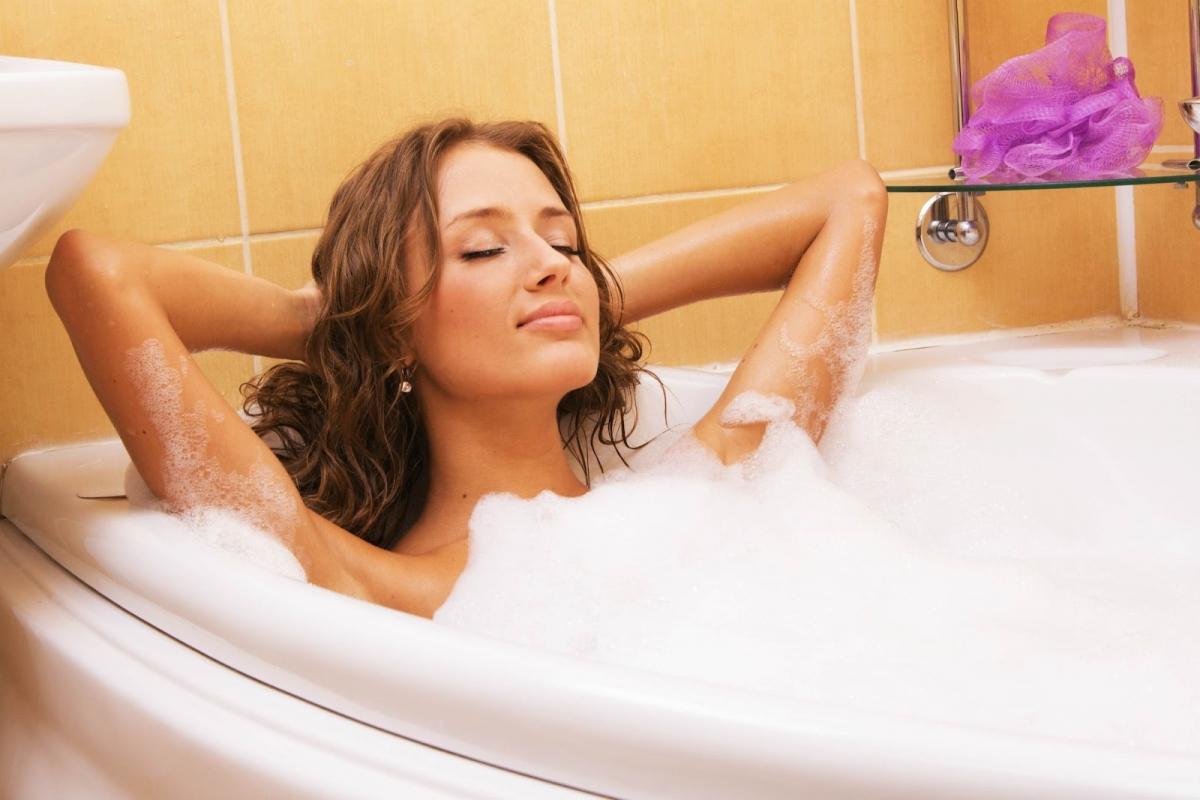 Отдых в ванной перед сном