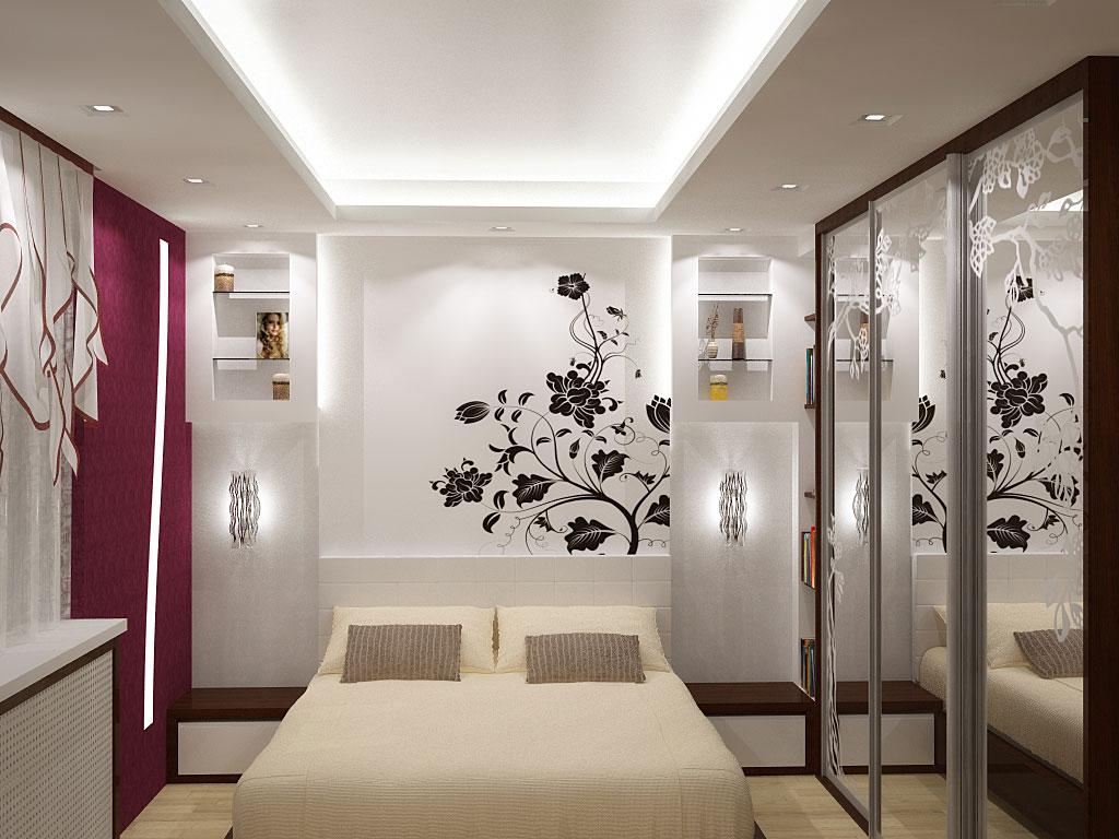 как обустроить интерьер маленькой спальни