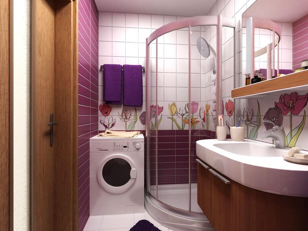 Дизайн ванной комнаты с ванной и душевой